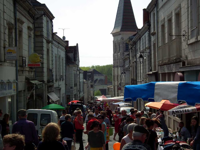 Small town on a fair day, Indre et Loire, France. Photo by Loire Valley Time Travel.