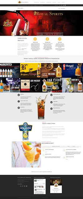 Site web Royal Spirits Madagascar, vente d'alcool