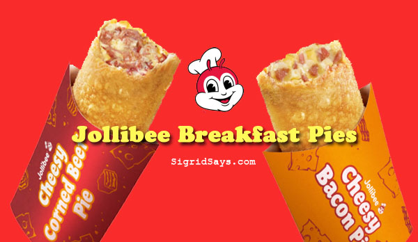 Jollibee, Jollibee breakfast pies, breakfast meals, Jollibee stores, Jollibee Bacolod, Bacolod blogger, Bacolod restaurants, Food Panda, Grab Food PH, food delivery service, Jollibee delivery, corned beef pie, mashed potato, bacon pie, breafast on the go, Pinoy breakfast, easymusal - cheesy corned beef pie - cheesy bacon pie