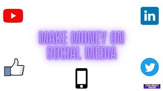 Make Money on Social Media Concept