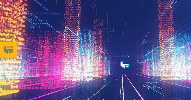 luzes representando conjuntos de dados
