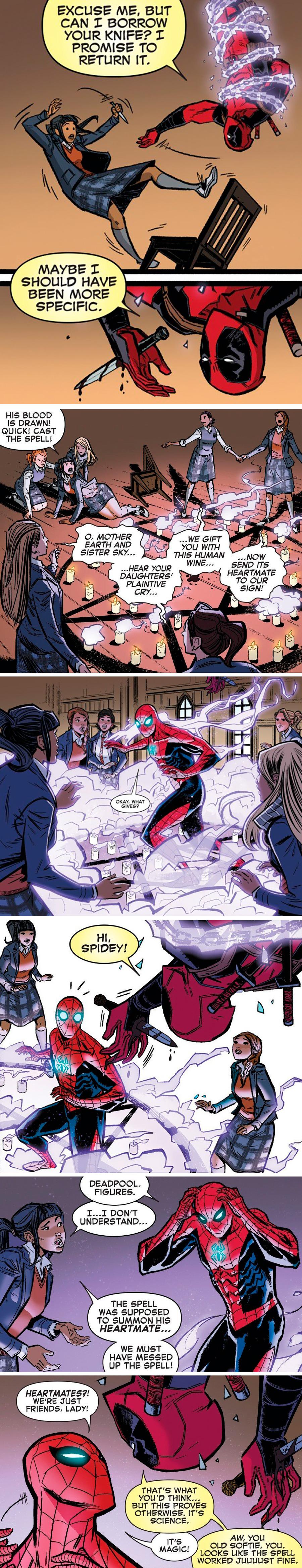 Deadpool and Spiderman: Heartmates