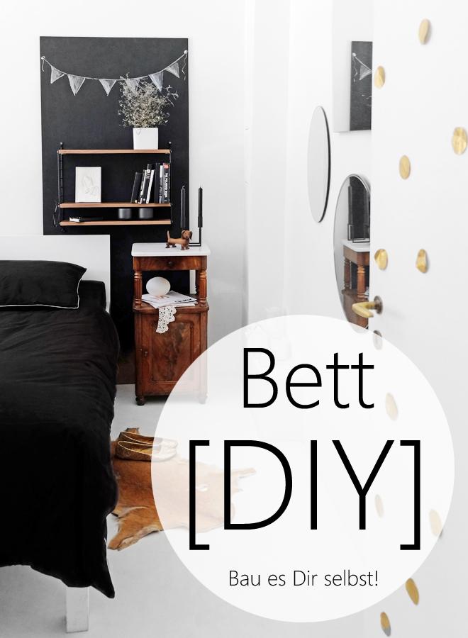 Bett selber bauen, Bett DIY, Möbel bauen, Anleitung, Bett unter hundert Euro, günstiges Bett, schlafen, Schlafzimmer, Wohnen, Minza will Sommer