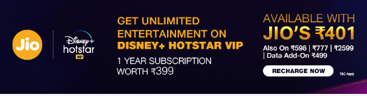 Disney hotstar vip jio offer
