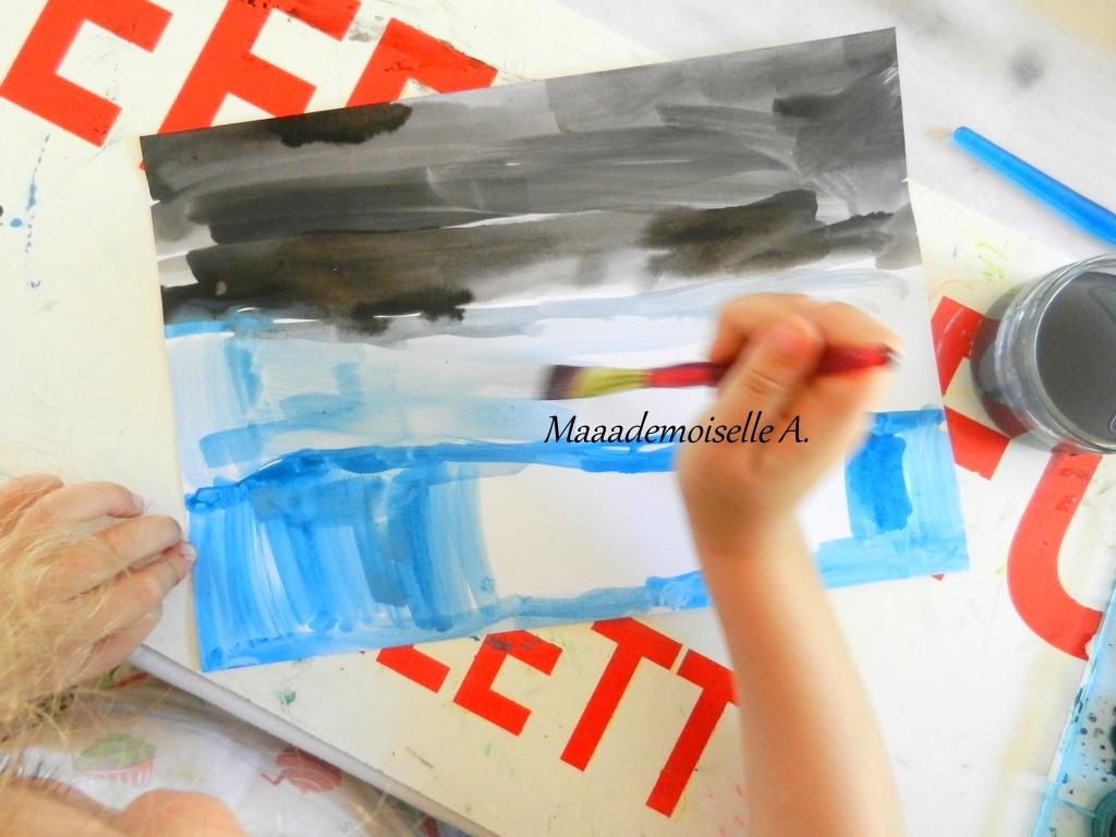Maaademoiselle a activit ours polaires en coton for Peinture boiro jeu deffet paillettes
