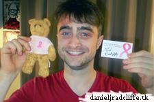 Daniel signed a Teddy Bear to benefit Avon Walk