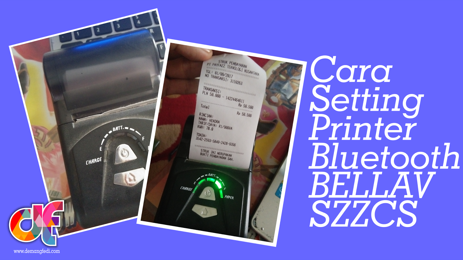 Cara Setting Printer Bluetooth BellaV SZZCS
