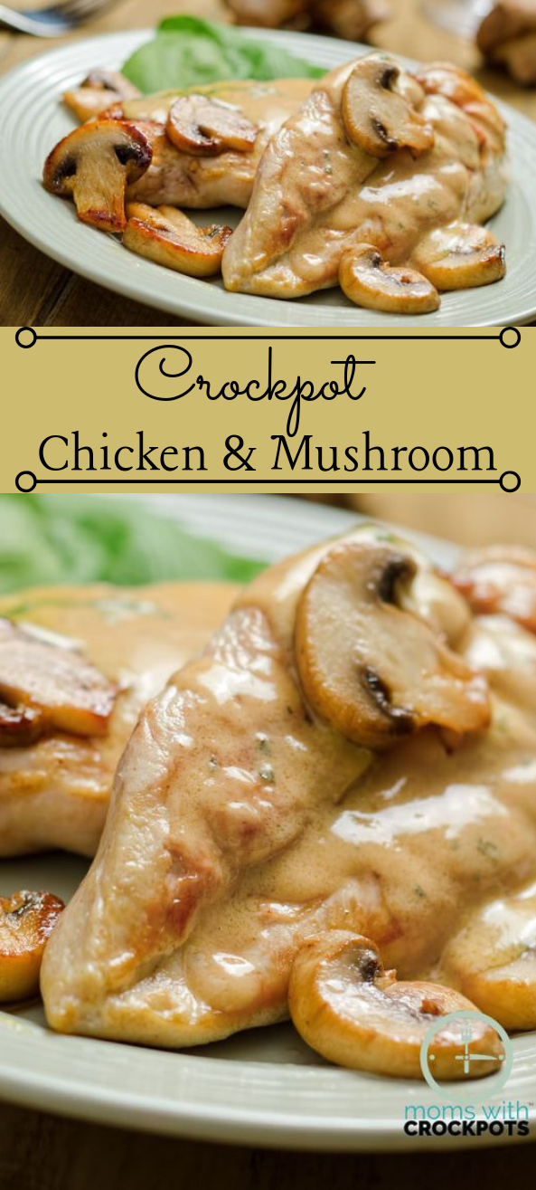 CROCKPOT CHICKEN & MUSHROOMS  #diet #healthydiet #keto #mushroom #chicken