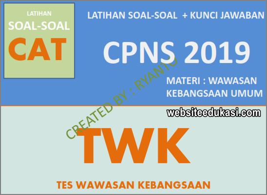 Soal Cpns Twk 2019 2020 Beserta Kunci Jawaban Websiteedukasi Com