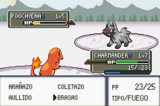 Pokemon Final Red para GBA Combate Pokemon
