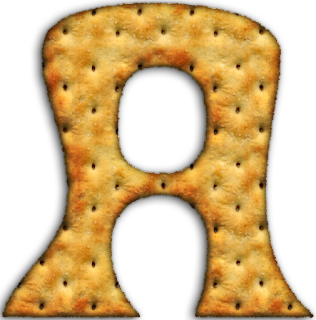 Alfabeto hecho con Galletas Saladas. Alphabet done with Crakers.