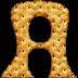 Alfabeto hecho con Galletas Saladas.