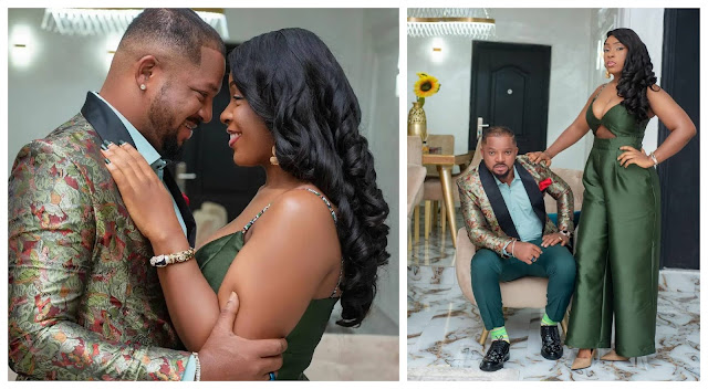 You are truly a beautiful gift to me and I will always appreciate you- Actor Walter Anga and his wife celebrate their 12th wedding anniversary (Photos)