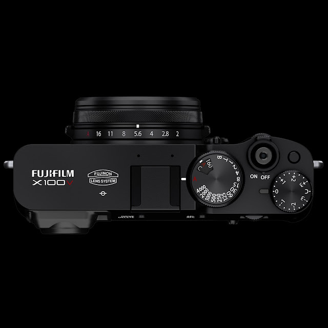 The top controls and dials of the X100V
