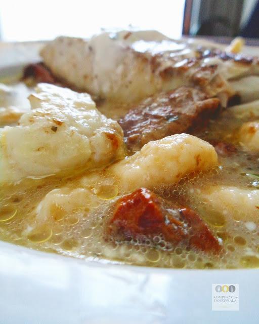 piątkowy obiad ryba z grzybami