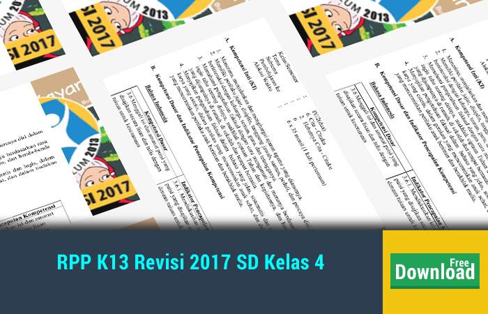 RPP K13 Revisi 2017 SD Kelas 4