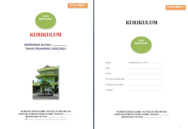 Dokumen KTSP Madrasah Tahun 2020/2021 tingkat MA