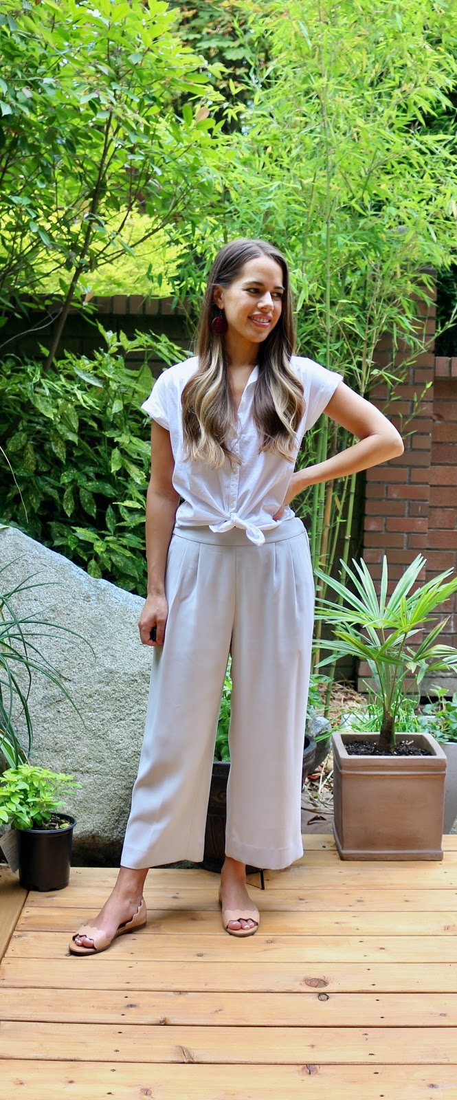 Jules in Flats -  Wide Leg Cropped Pants (Business Casual Workwear on a Budget)