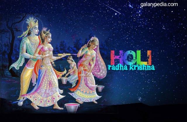 Holi images with Radha Krishna