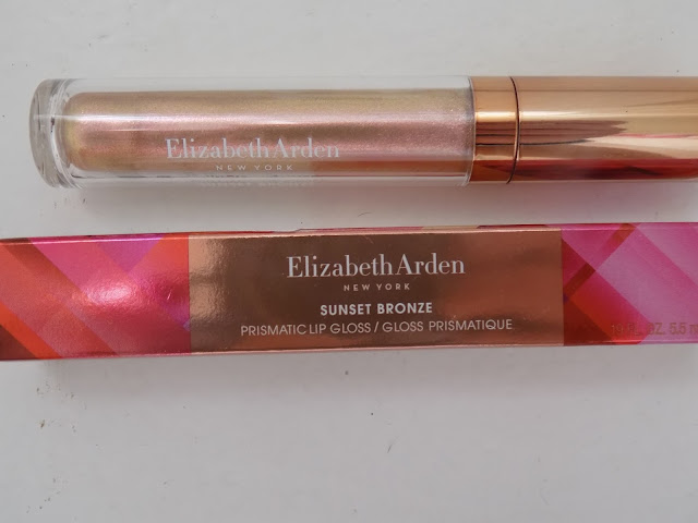 Elizabeth Arden Sunset Bronze Prismatic Bronzing Powder + Lip Gloss
