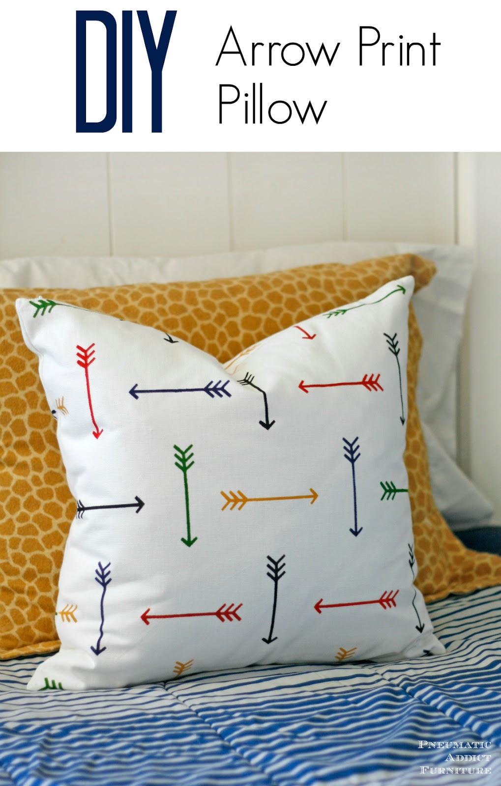 DIY Arrow Print Pillow  Giveaway  Pneumatic Addict