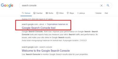 Cara Index Artikel di Search Console Terbaru 2021