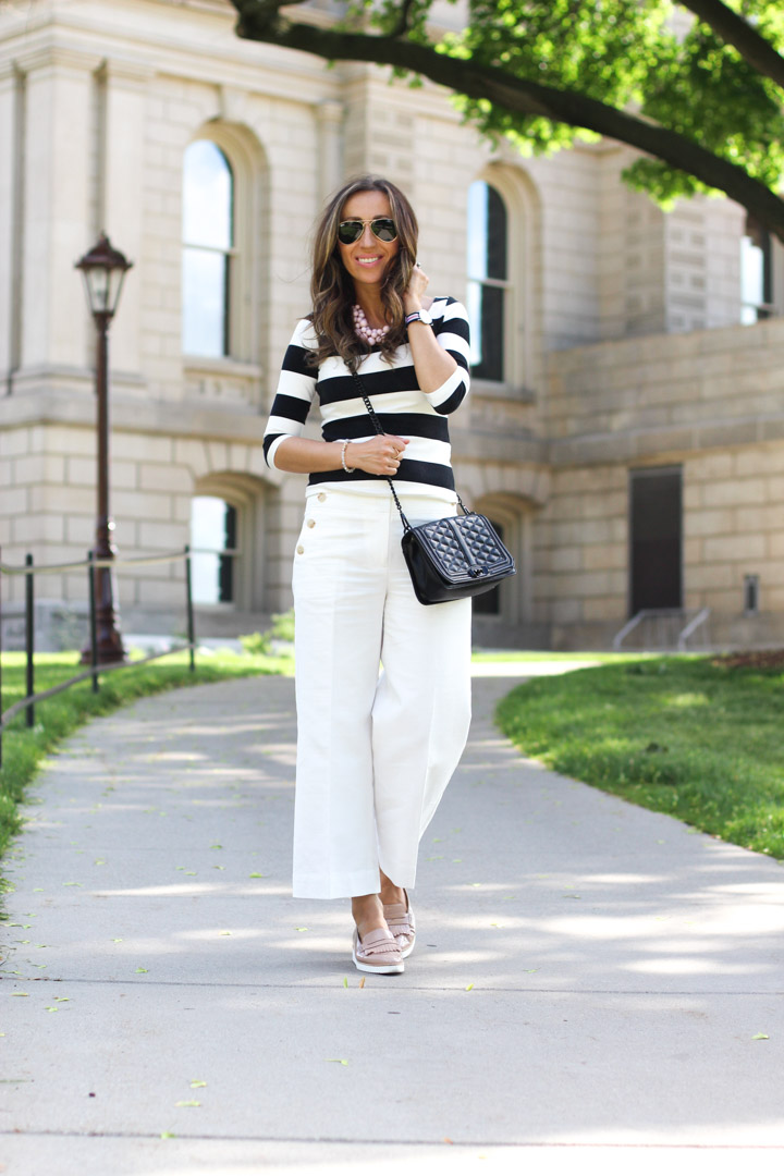 Wide Leg Pants And Stripes Lilly Style