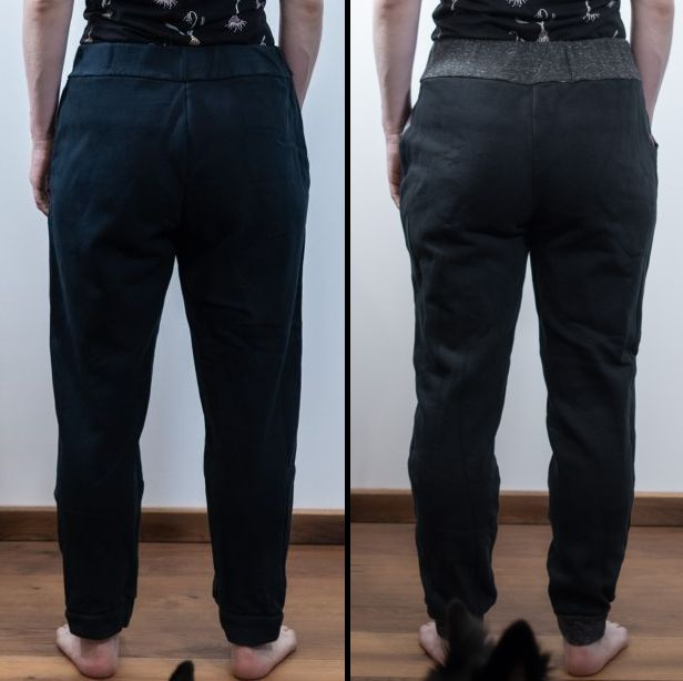 comparisation jj knit classic joggers sinclair patterns vs the hudson pants true bias sewing minn's things full butt adjustment