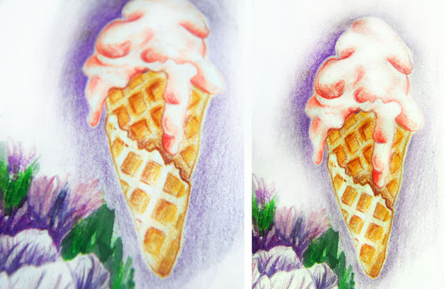 currant ice cream drawing