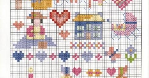 Grande raccolta di schemi e grafici per punto croce free for Disegni punto croce per bavaglini