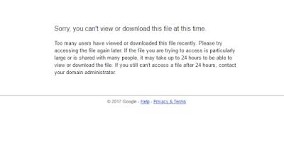 Peringatan google drive limit akses