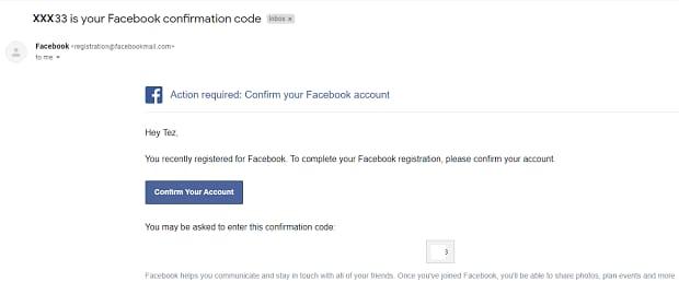 Verifying Email address
