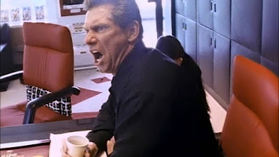 Vince McMahon looking furious for one reason or another