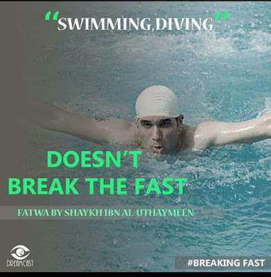 Swimming and Diving does not break the fast | Those Things that Break the Fast or Not by Ummat-e-Nabi.com