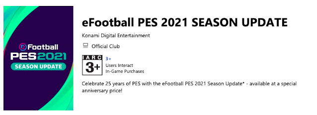 eFootball PES 2021 Release date