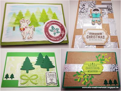 Weihnachtskarten mit Bäumen und Wald Stampin' Up! www.eris-kreativwerkstatt.blogspot.de