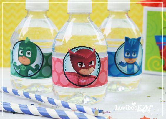 Lembrancinhas garrafa PJ Masks