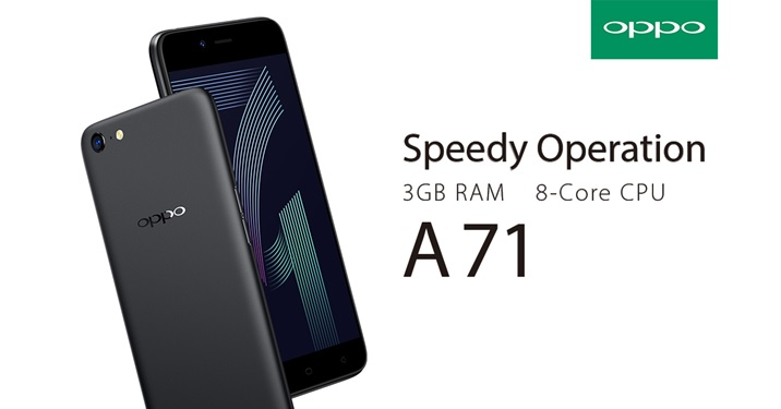 OPPO A71 speedy operation RAM