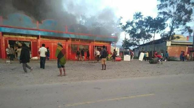 Polisi Tangani Kasus Kebakaran 6 Unit Ruko di Phike Wamena