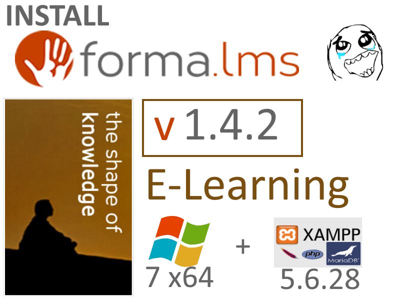 ... v1.4.2 on Windows 7 localhost XAMPP 5.6.28 - opensource PHP e-Learning