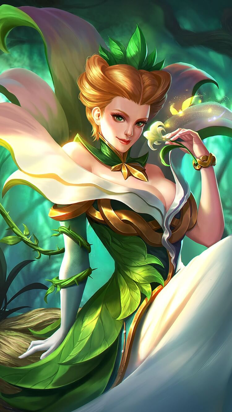 Wallpaper Aurora Natures Throne Skin Mobile Legends HD for Mobile