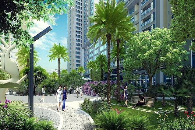 không gian xanh tại chung cư Vinata Tower