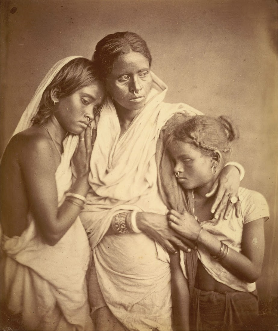 Portrait of Three Women, Probably a Mother and her Two Daughters - Eastern Bengal 1860's