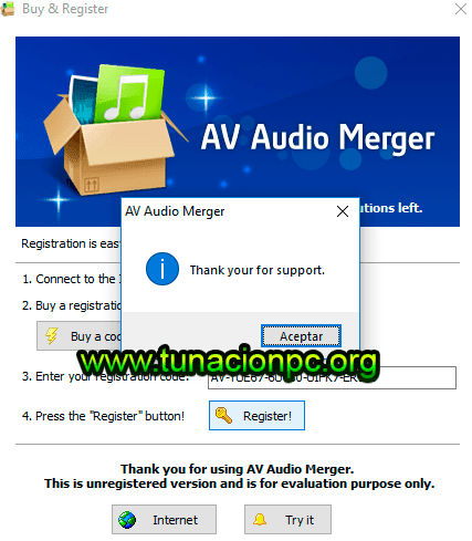 AV Audio Merger con Licencia de Registro Completo