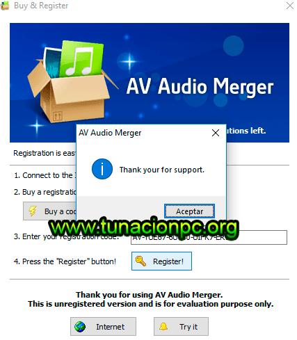 AV Audio Merger con Licencia de Registro Completo