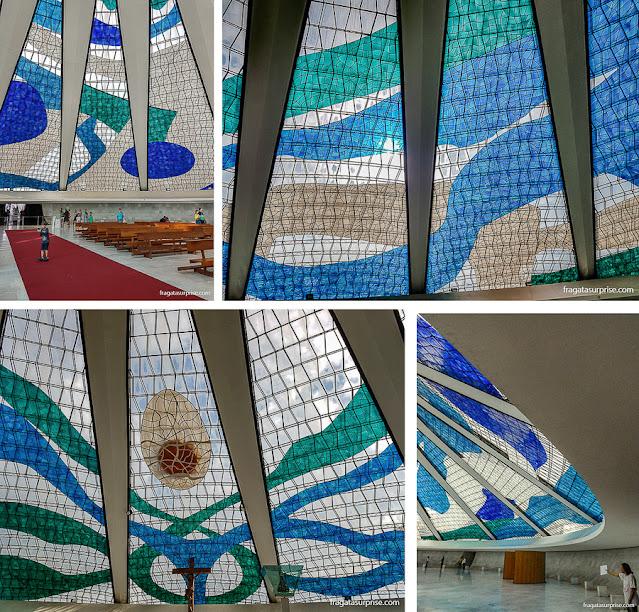 Vitrais de Marianne Peretti na Catedral de Brasília