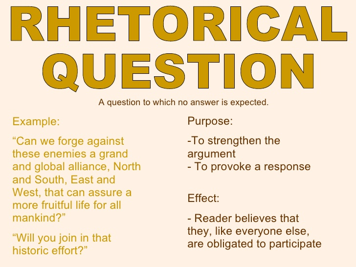 rhetorical question generator