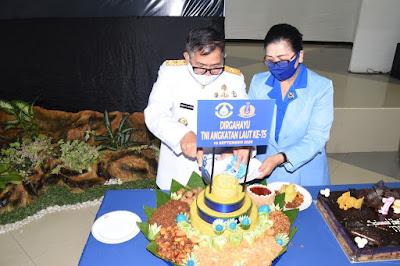 Lantamal VIII Peringati HUT Ke-75 TNI Angkatan Laut