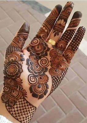 Desain Pernikahan Arabic Mehndi Design On Palm