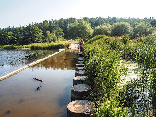 Druridge Bay Park - stepping stones
